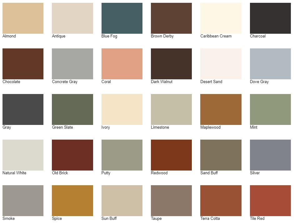 Concrete Color Additive Color Chart
